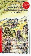 Cover-Bild zu Große Karte der Sächsischen Schweiz 1 : 30 000. Regenfest von Böhms, Rolf