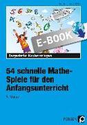 Cover-Bild zu 54 schnelle Mathe-Spiele für den Anfangsunterricht (eBook) von Harms, Petra