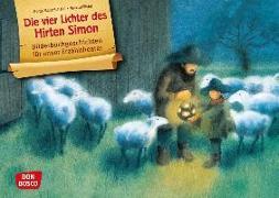 Cover-Bild zu Die vier Lichter des Hirten Simon. Kamishibai Bildkartenset von Scheidl, Gerda Marie