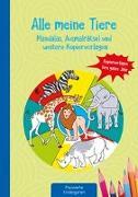 Cover-Bild zu Alle meine Tiere - Mandalas, Ausmalrätsel und weitere Kopiervorlagen von Klein, Suse