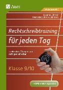 Cover-Bild zu Rechtschreibtraining für jeden Tag Klasse 9/10 von Günther, Susanne
