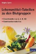 Cover-Bild zu Lebensmitteltabellen zu den Blutgruppen von Speck, Brigitte