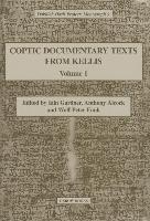 Cover-Bild zu Coptic Documentary Texts from Kellis 1 von Gardner, Iain