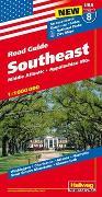 Cover-Bild zu Southeast, Middle Atlanitic, Appalachian Mts. 1:1 Mio., Road Guide Nr. 8. 1:1'000'000 von Hallwag Kümmerly+Frey AG (Hrsg.)