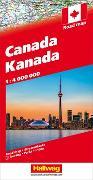 Cover-Bild zu Kanada Strassenkarte 1:4 Mio. 1:4'000'000 von Hallwag Kümmerly+Frey AG (Hrsg.)