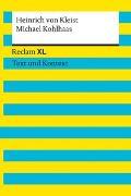 Cover-Bild zu Michael Kohlhaas. Textausgabe mit Kommentar und Materialien von von Kleist, Heinrich