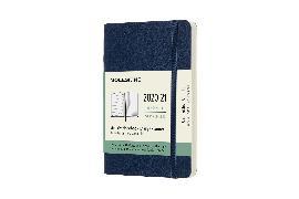 Cover-Bild zu Moleskine 18 Monate Wochen Notizkalender 2020/2021 Pocket/A6, 1 Wo = 1 Seite, rechts linierte Seite, Weicher Einband, Saphir
