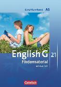Cover-Bild zu English G 21, Ausgabe A, Abschlussband 5: 9. Schuljahr - 5-jährige Sekundarstufe I, Fördermaterial, Kopiervorlagen von Friedrich, Senta