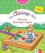 Cover-Bild zu Klett Mein Lieblings-Block Allererste Buchstaben-Spiele von Vorbach, Britta (Hrsg.)