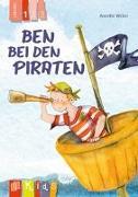 Cover-Bild zu KidS - Klassenlektüre in drei Stufen: Ben bei den Piraten - Lesestufe 1 von Weber, Annette