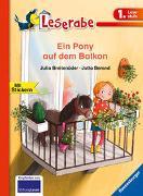 Cover-Bild zu Ein Pony auf dem Balkon - Leserabe 1. Klasse - Erstlesebuch für Kinder ab 6 Jahren von Breitenöder, Julia