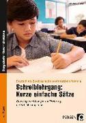 Cover-Bild zu Schreiblehrgang: Kurze einfache Sätze von Entradas, Marie-Anne