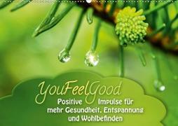 Cover-Bild zu YouFeelGood - Positive Impulse für mehr Gesundheit, Entspannung und Wohlbefinden (Wandkalender 2021 DIN A2 quer) von Shayana Hoffmann, Gaby
