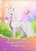 Cover-Bild zu Zauberhaft liebe Einhörner - Kalender (Wandkalender 2021 DIN A3 hoch) von Shayana Hoffmann, Gaby