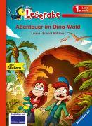 Cover-Bild zu Abenteuer im Dino-Wald - Leserabe 1. Klasse - Erstlesebuch für Kinder ab 6 Jahren von Leopé