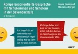 Cover-Bild zu Kompetenzorientierte Gespräche mit Schülerinnen und Schülern in der Sekundarstufe von Hardeland, Hanna