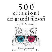 Cover-Bild zu 500 citazioni dei grandi filosofi del XIX secolo (Audio Download) von Emerson, Ralph Waldo