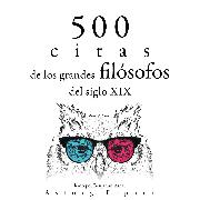 Cover-Bild zu 500 citas de los grandes filósofos del siglo XIX (Audio Download) von Emerson, Ralph Waldo