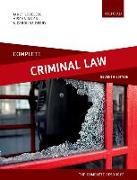 Cover-Bild zu Complete Criminal Law von Loveless, Janet