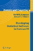 Cover-Bild zu Developing Statistical Software in Fortran 95 (eBook) von Lemmon, David R.