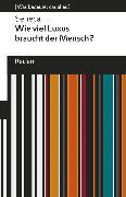 Cover-Bild zu Wie viel Luxus braucht der Mensch? (eBook) von Seneca
