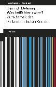 """Cover-Bild zu Was heißt hier """"wir""""? Zur Rhetorik der parlamentarischen Rechten (eBook) von Detering, Heinrich"""