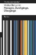 Cover-Bild zu Passagen, Durchgänge, Übergänge. Auswahl von Benjamin, Walter