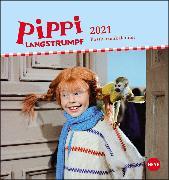 Cover-Bild zu Pippi Langstrumpf Postkartenkalender Kalender 2021