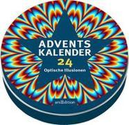 Cover-Bild zu Adventskalender in der Dose - 24 optische Illusionen von Schumacher, Timo (Illustr.)