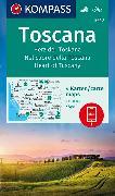 Cover-Bild zu KOMPASS Wanderkarte Toscana, Herz der Toskana, Nel cuore della Toscana, Heart of Tuscany. 1:50'000