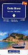 Cover-Bild zu Costa Brava, Barcelona Regionalkarte 1:200 000. 1:200'000