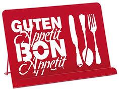 Cover-Bild zu Küchenwunder Kochbuchständer Metall rot