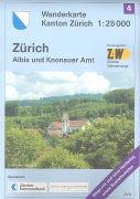 Cover-Bild zu Wanderkarte Kanton Zürich 4. Albis und Knonauer Amt. 1:25'000
