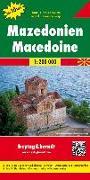 Cover-Bild zu Mazedonien, Autokarte 1:200.000, Top 10 Tips. 1:200'000