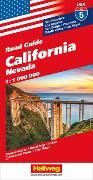 Cover-Bild zu California, Nevada Strassenkarte 1:1 Mio., Road Guide Nr. 5. 1:1'000'000 von Hallwag Kümmerly+Frey AG (Hrsg.)