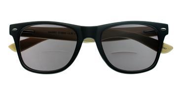 Cover-Bild zu MAMBO G12500, schwarz, inkl. Etui, +2.00 dpt, Bifo Sonnenbrille mit Bambusbügeln, Federtechnik