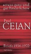 Cover-Bild zu Celan, Paul: »etwas ganz und gar Persönliches«