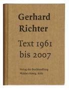 Cover-Bild zu Richter, Gerhard: Text 1961 bis 2007. Sonderausgabe