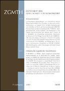 Cover-Bild zu Polth, Michael (Hrsg.): ZGMTH - Zeitschrift der Gesellschaft für Musiktheorie, 11. Jahrgang 2014