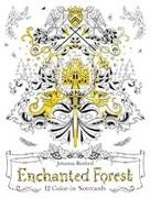 Cover-Bild zu Basford, Johanna (Illustr.): Enchanted Forest: 12 Colour-in Notecards