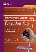 Cover-Bild zu Rechtschreibtraining für jeden Tag Klasse 7-8 von Günther, Susanne