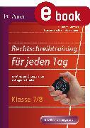 Cover-Bild zu Rechtschreibtraining für jeden Tag Klasse 7-8 (eBook) von Günther, Susanne