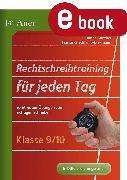 Cover-Bild zu Rechtschreibtraining für jeden Tag Klasse 9 10 (eBook) von Günther, Susanne