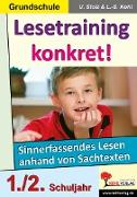 Cover-Bild zu Lesetraining konkret! / 1.-2. Schuljahr (eBook) von Stolz, Ulrike