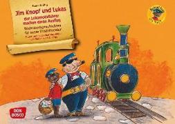 Cover-Bild zu Jim Knopf und Lukas der Lokomotivführer machen einen Ausflug. Kamishibai Bildkartenset von Dölling, Beate