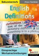Cover-Bild zu English Definitions von Thierfelder, Prisca