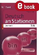 Cover-Bild zu Deutsch an Stationen SPEZIAL Grammatik 7-8 (eBook) von Scherer, Yvonne