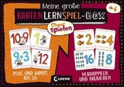 Cover-Bild zu Loewe Lernen und Rätseln (Hrsg.): Clever spielen - Meine große KartenLernSpiel-Box - Plus und Minus bis 20/Verdoppeln und Halbieren