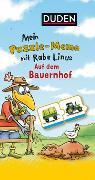 Cover-Bild zu Mein Puzzlememo mit Rabe Linus - Auf dem Bauernhof von Raab, Dorothee