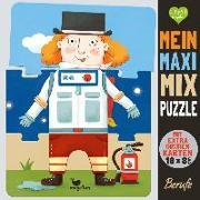 Cover-Bild zu Mein Maxi-Mix-Puzzle - Berufe von Gertenbach, Pina (Illustr.)